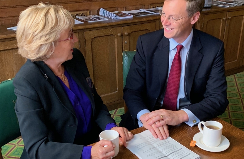 Michael meeting Andrea Leadsom
