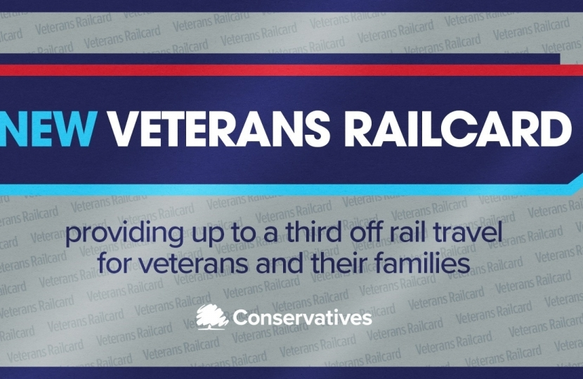 Veterans railcard graphic