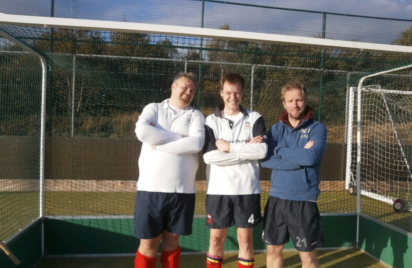 Michael and hockey mates at Ashdown